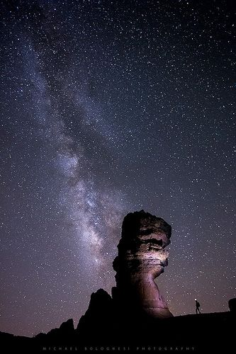 06 Milky Way over Roque Cinchado [Explored], por Michael Bolognesi