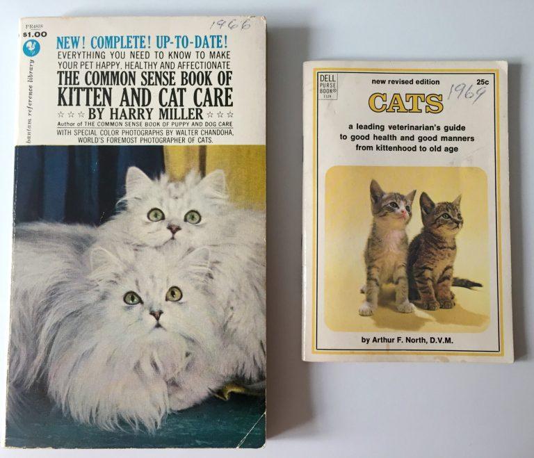 Guías de cuidado de gatos de la década de 1960
