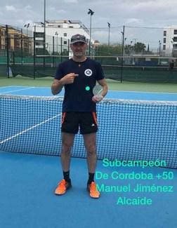 MANUEL JIMÉNEZ SUBCAMPEÓN PROVINCIAL +50