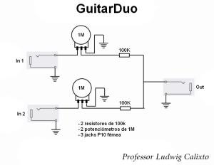 Como ligar duas guitarras em um amplificador (esquema)