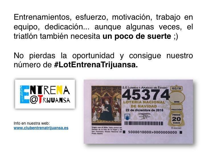 #LoteríaEntrenaTrijuansa: con un poquito de suerte...