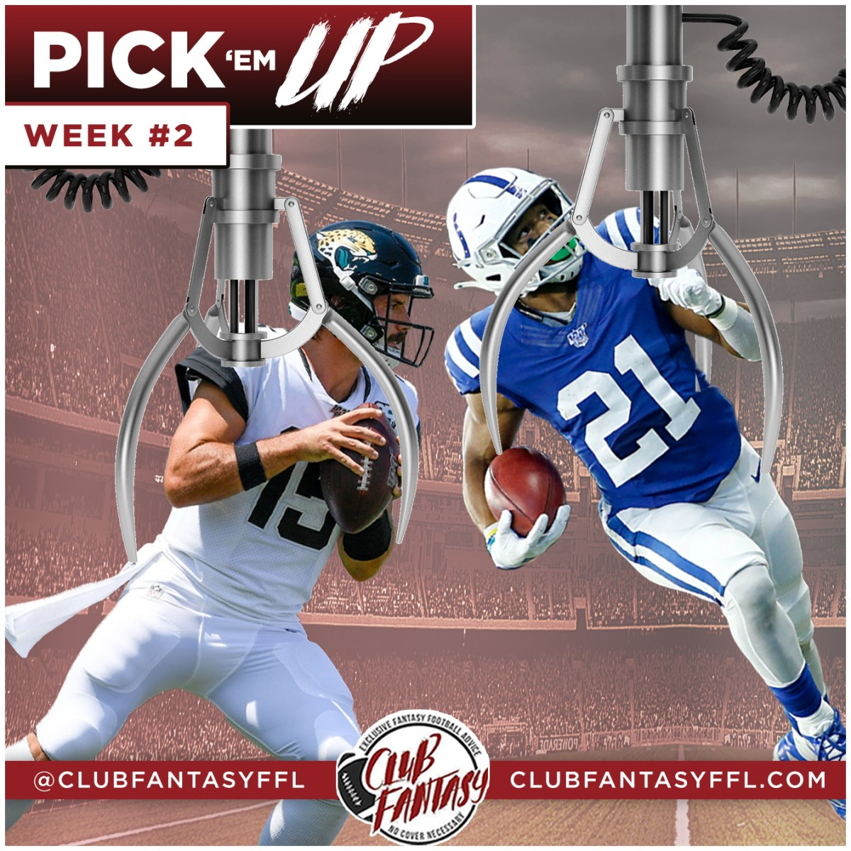 week 2 waiver claims, club fantasy ffl pick em up, nyheim hines and gardner minshew