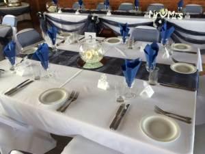 Blue tables