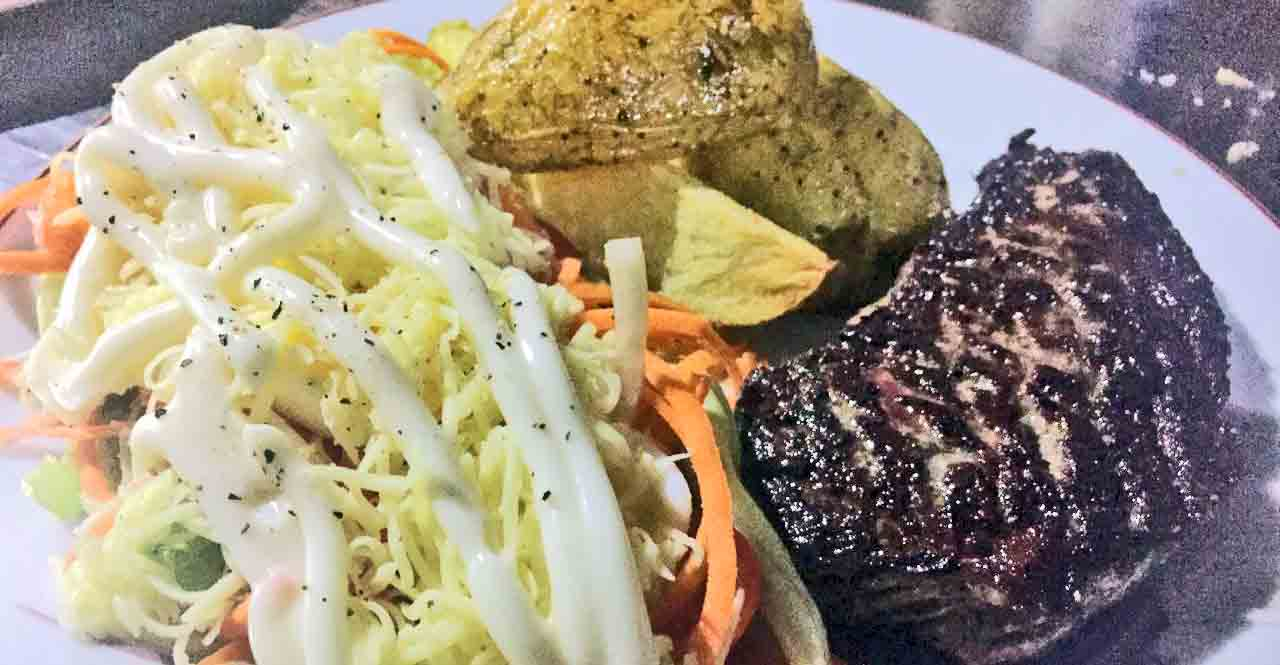 Clubhouse Big Juicy Steak & Home Style Fries with Salad