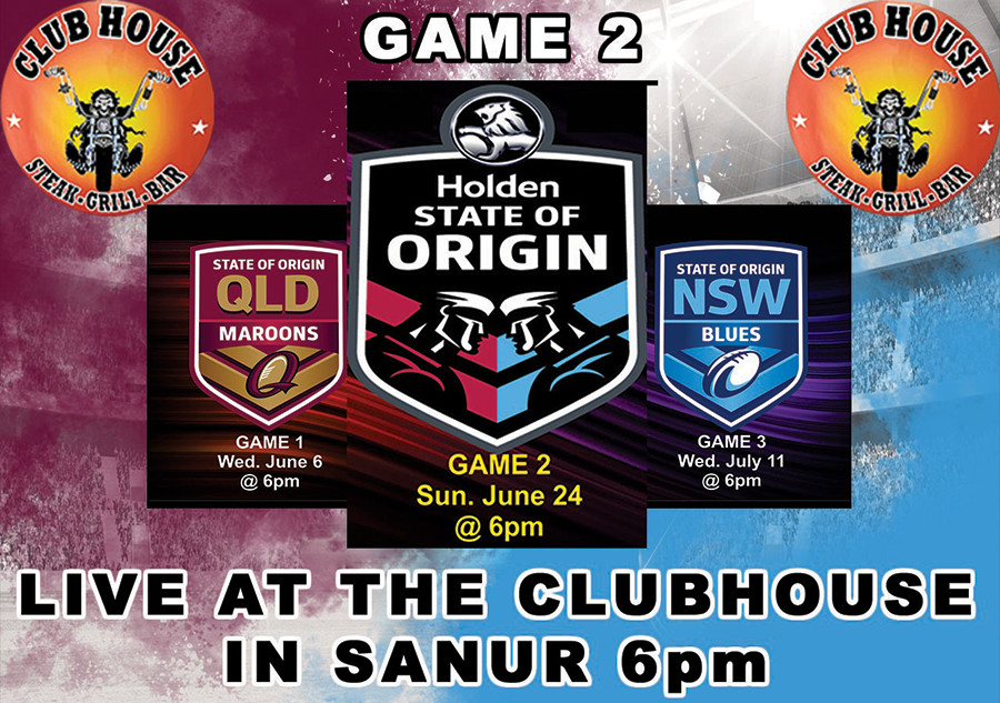 State of Origin 2018 Game 2 Live Clubhouse Sanur
