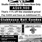 On Sale Now Clubhouse Bali Condos Studio for 25 Years