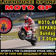 Clubhouse Steak Grill & Bar Sanur MOTO GP