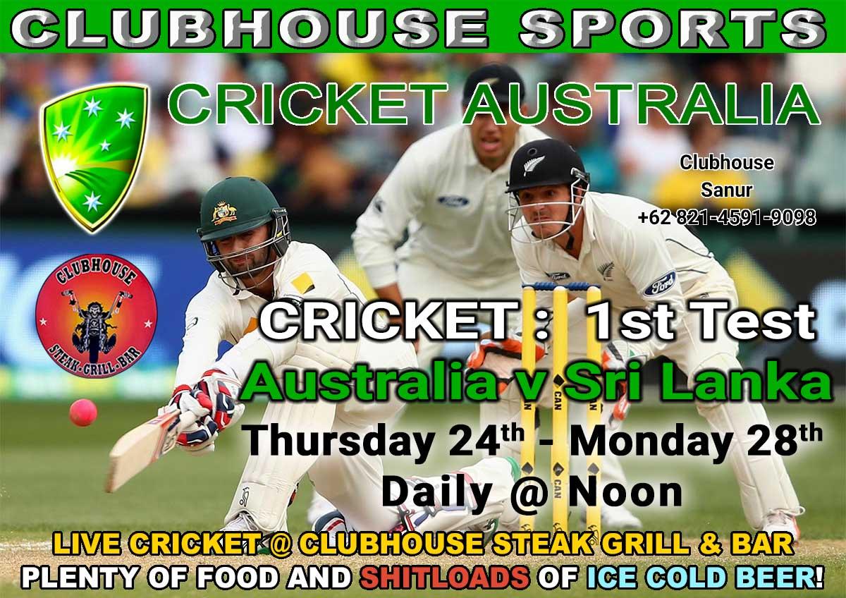CLUBHOUSE SANUR BALI CRICKET AUSTRALIA LIVE