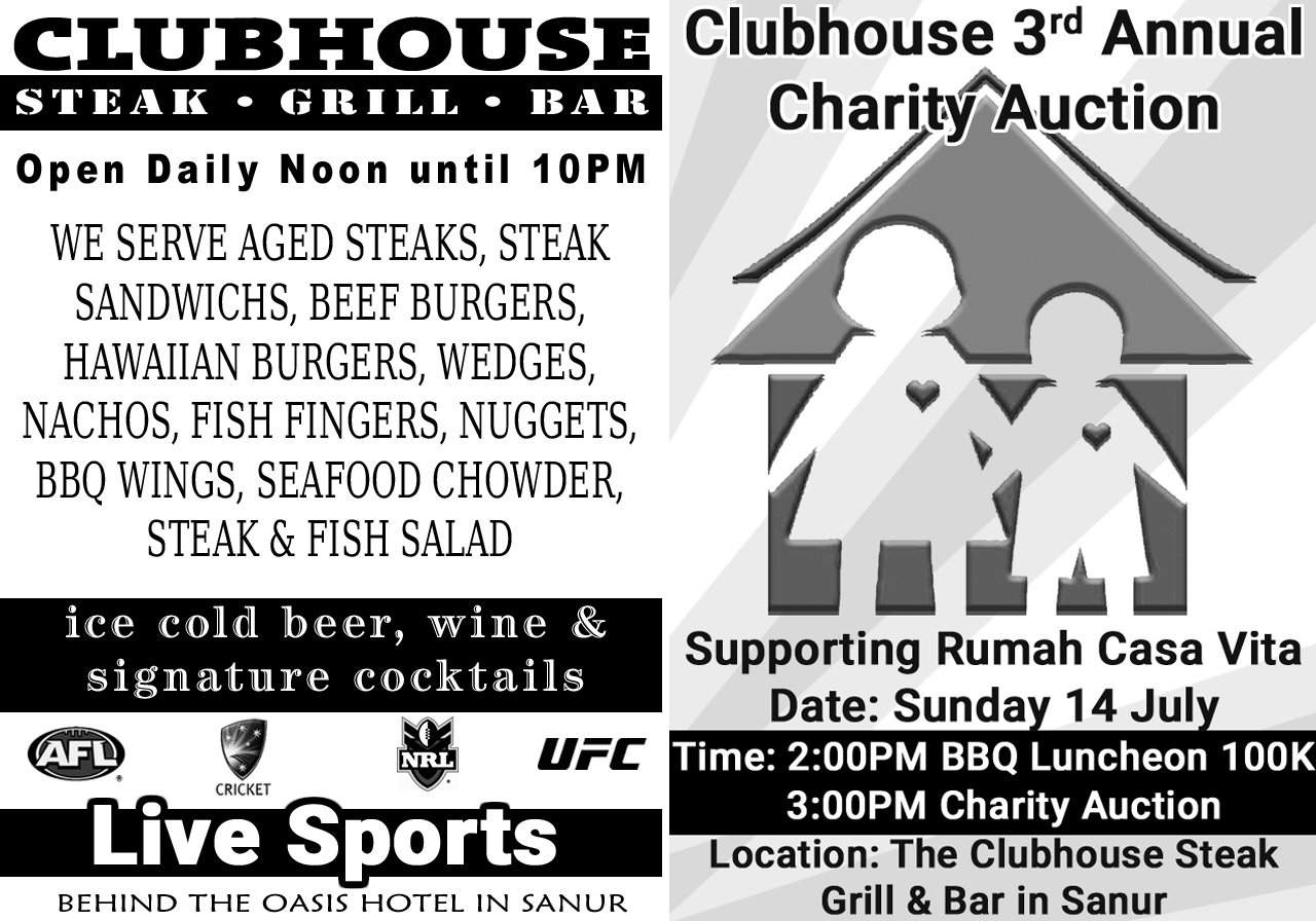 Date Saver: 3rd Annual Clubhouse Charity Auction