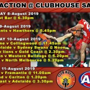 Catch all the AFL Action Live at the Clubhouse in Sanur
