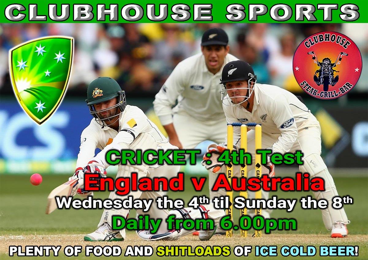 CRICKET : 4th Test England v Australia