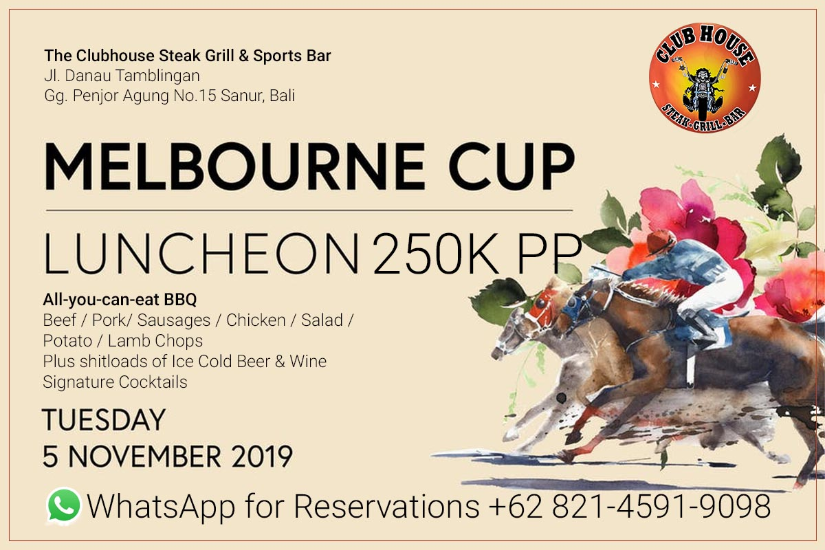 Clubhouse Steak Grill & Sports Bar Presents Annual 2019 Melbourne Cup Luncheon