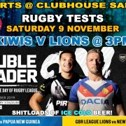 Clubhouse Sanur Sports Rugby Tests Kiwis vs Lions
