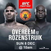 UFC Fight Night Overeem vs Rozenstruik Sun, Dec 8