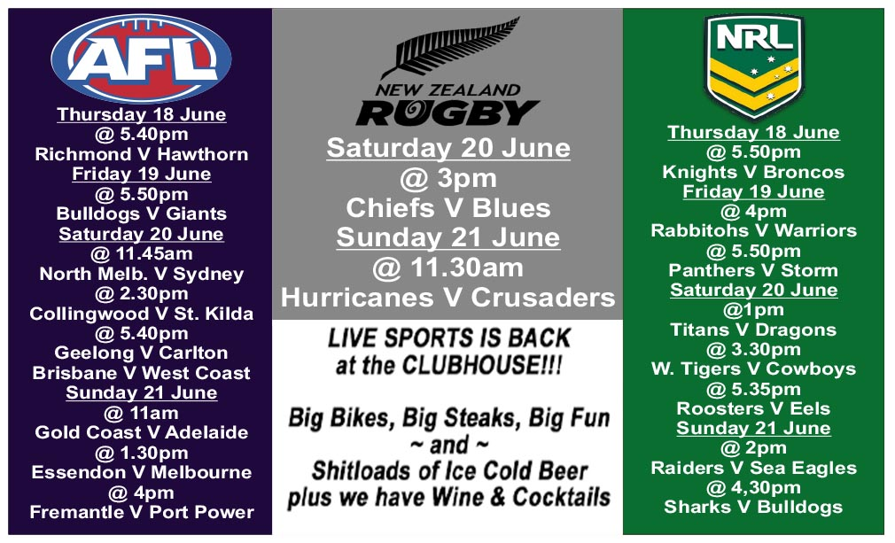 Clubhouse Bali Live Sports is Back COVID 19-Hours