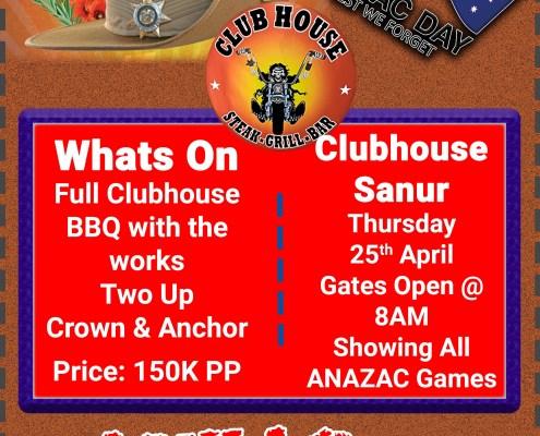ANZAC Day Clubhouse Sanur Bali 2019