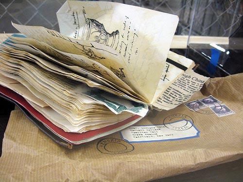 IMAGE: Grail diary replica bt Adam Savage