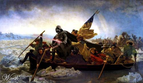 Vader crossing the Delaware