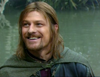 The one pic on the internet where Sean Bean Boromir doesn't look like a psychopath!