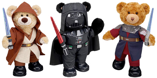 Shouldn't the more reddish bear get Obi-Wan's outfit? NOT CANON!