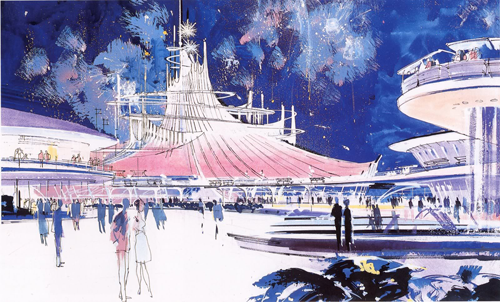 Concept art for Tomorrowland (the park)