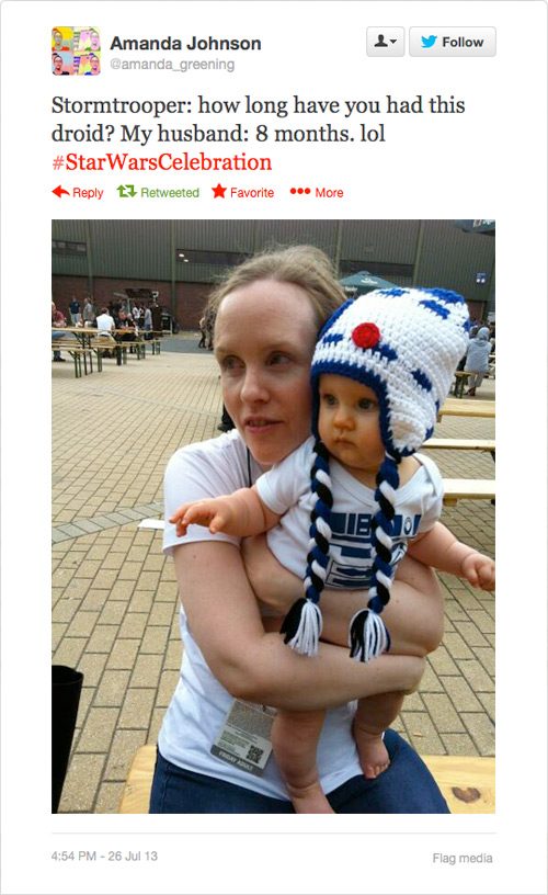 @amanda_greening: Stormtrooper: how long have you had this droid? My husband: 8 months. lol #StarWarsCelebration