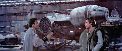 Lando, Han and the Falcon in ROTJ