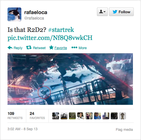 @rafaeloca: Is that R2D2? #startrek pic.twitter.com/Nf8Q8vwkCH