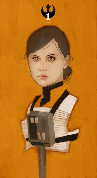 In less eye-rolling/LOL Hollywood news, Phil Noto drew Rogue One star Felicity Jones as an X-wing pilot.