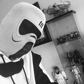 john_boyega: Leaving the ultra nerd house for a nerd run. #Troophoodie