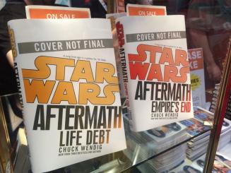 Aftermath: Life Debt and Aftermath: Empire's End jacks on display at NYCC. Photo thanks to @LillianSkye_.