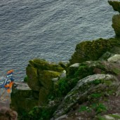 Rey on a cliff (TLJ BTS)
