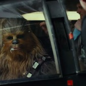 Chewie in a cockpit (TLJ BTS)
