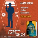 And finally, the legend himself. Han Solo may not be the hotshot he used to be, but he's still got it where it counts. #LastShot #MeetTheCrew