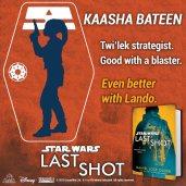 Kaasha Bateen brings a deft trigger finger and a dose of tactical genius. #LastShot #MeetTheCrew