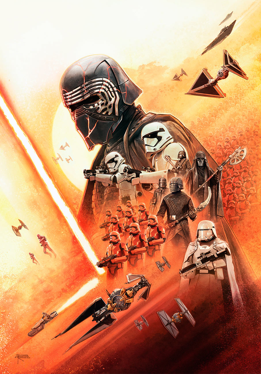 Rise of Skywalker art by Brian Rood