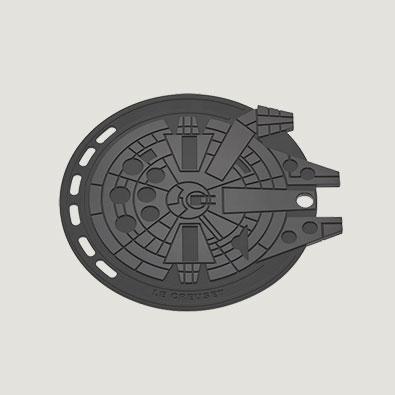 Le Creuset - Millennium Falcon Trivet - $20