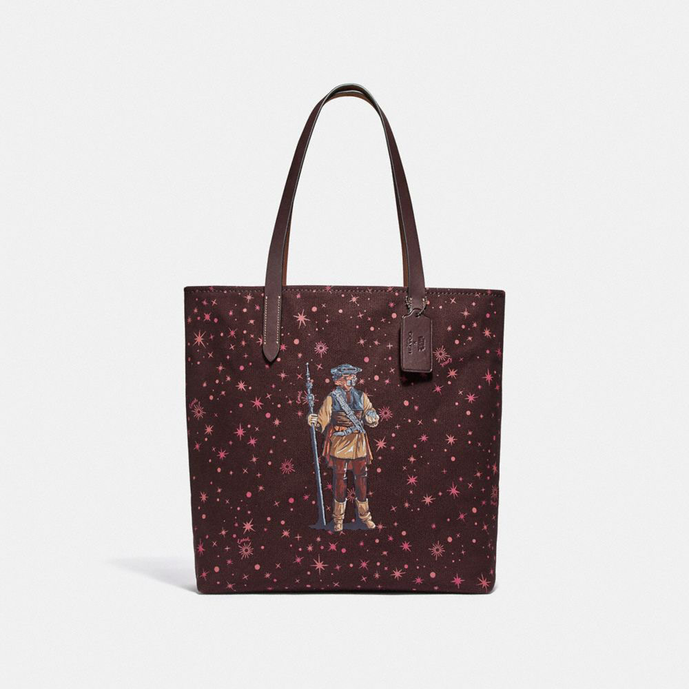 Star Wars X Coach Tote With Starry Print And Princess Leia As Boushh