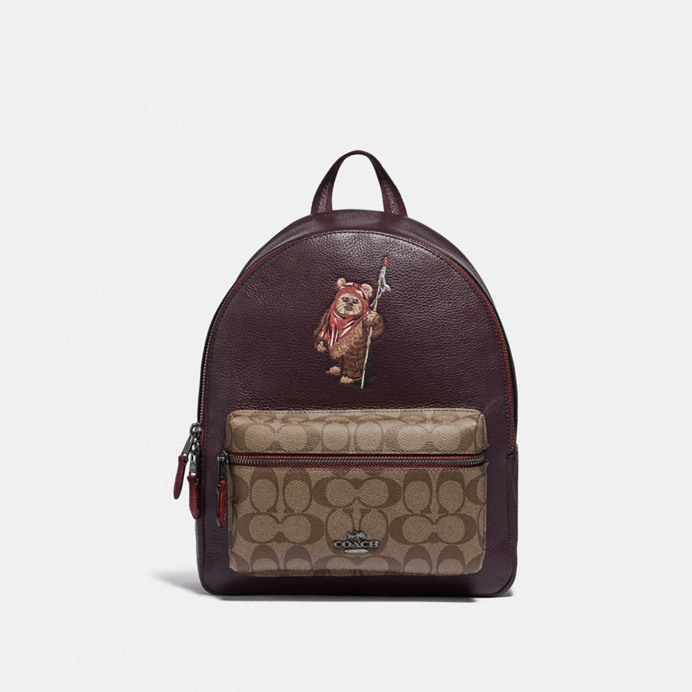 Star Wars X Coach Medium Charlie Backpack In Signature Canvas With Ewok