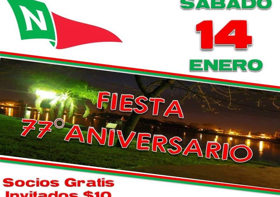 SABADO 14 Enero – Fiesta 77° Aniversario del Club Neptunia