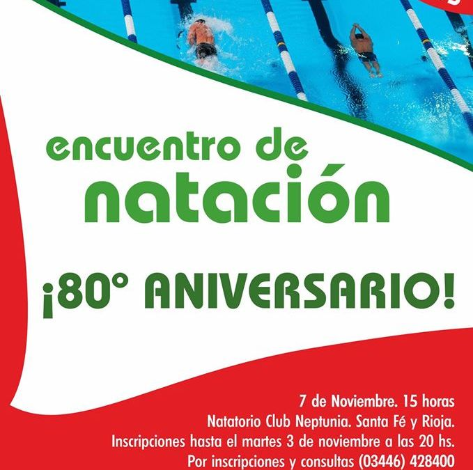 Encuentro de Natación 80° Aniversario.