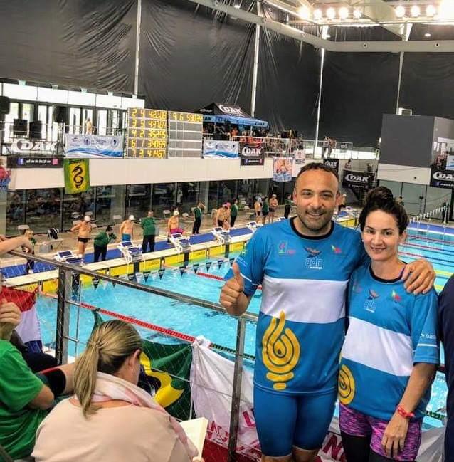 Notable participación de Romina Iturriarte y Matías Machado en el Sudamericano Master