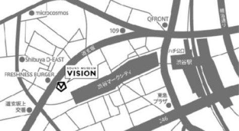 【渋谷クラブ】VISIONのアクセス、マップ、地図、行き方について