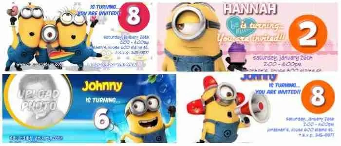 custom minion birthday invitations