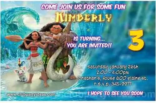 moana birthday invitations free