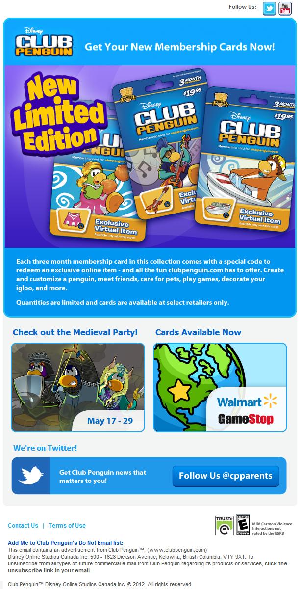 Penguin Items Unlock Club 2012 Codes