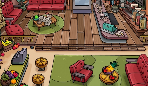 New Club Penguin Coffee Shop