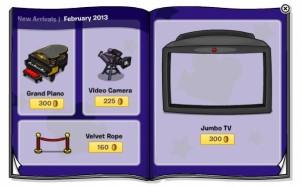 Club Penguin February 2013 Furniture Catalogue Sneak Peek