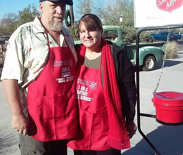 Warren Haessler And His Wife Debby Were Among The First Mesa West Rotary Family To Ring The Bell Collecting Red Kettle Donations For Salvation Army