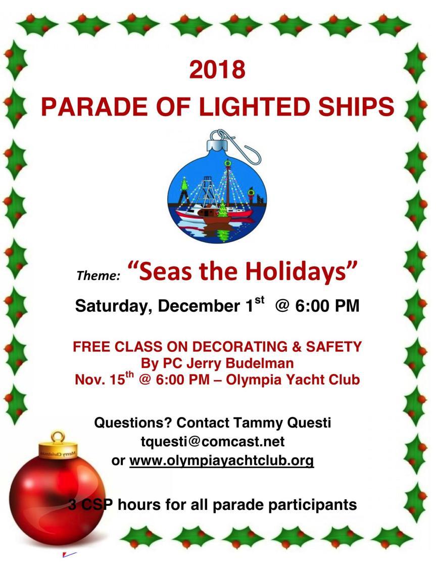2018 Lighted Boat Parade - South Sound Sailing Society